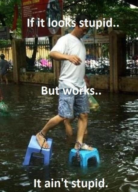 keeping dry,floods,funny