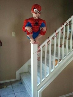 kids kids in costumes Spider-Man funny - 7675367424