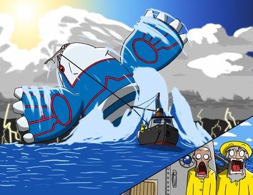 Pokémon fishing art kyogre - 7675369728