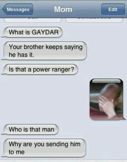 gaydar face palm moms funny g rated AutocoWrecks - 7675370496