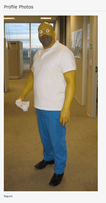 homer simpson wtf creepy costume funny - 7675495424