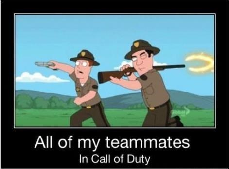 call of duty,family guy,teammates,video games