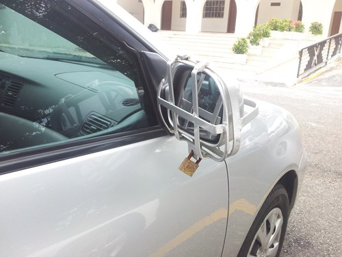 locks cars sideview mirror funny - 7675595776