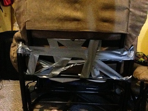 chairs,fixing furniture,duct tape,funny