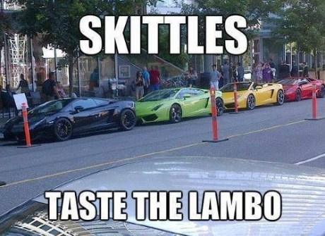 IRL cars lamborghinis skittles - 7675615232