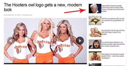 lady bits hooters ad placement funny - 7675649024