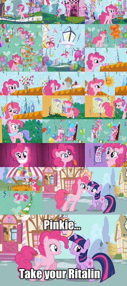 Pinkie has ADHD