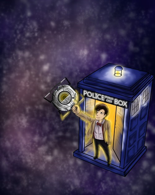 crossover,Fan Art,doctor who,video games,portal 2