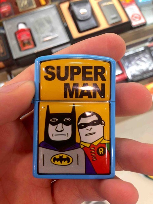 lighter superheroes batman knockoff funny