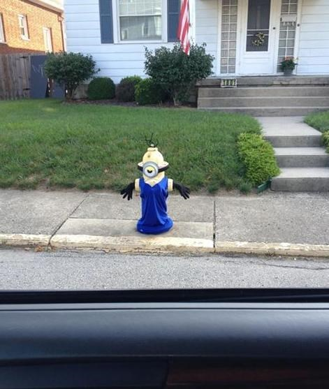 minions despicable me fire hydrant hacked irl funny - 7675851008