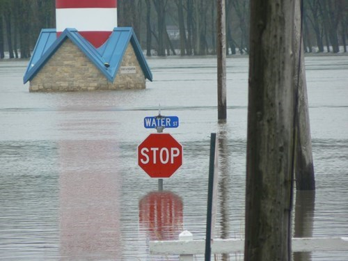 flooding,stop sign,irony,funny