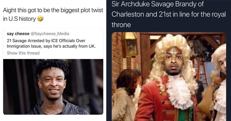 green card scandal deportation 21 savage hip hop controversial english rap British citizens roast ice controversy UK rapper roasted immigration - 7675909