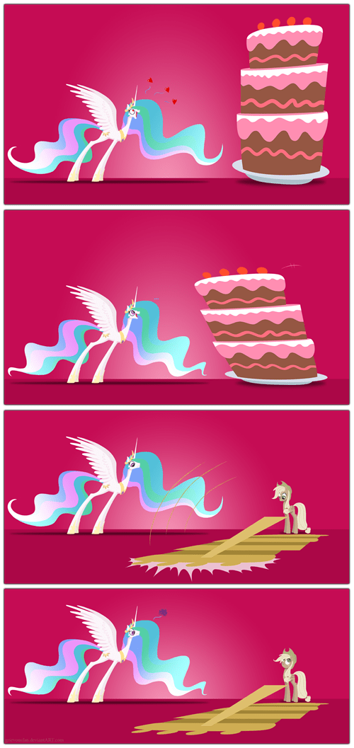 the cake is a lie,applejack,celestia