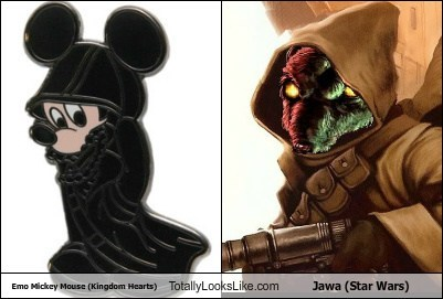 jawa,kingdom hearts,mickey mouse,emo,totally looks like,funny