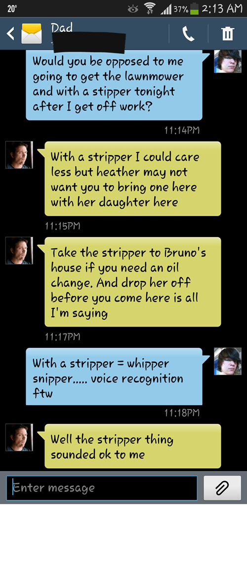 dads autocorrected strippers funny