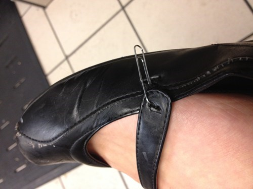 shoes,shoe repairs,funny,paper clips