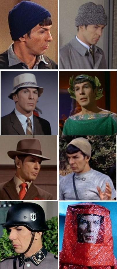 Spock,hats,Star Trek,Leonard Nimoy