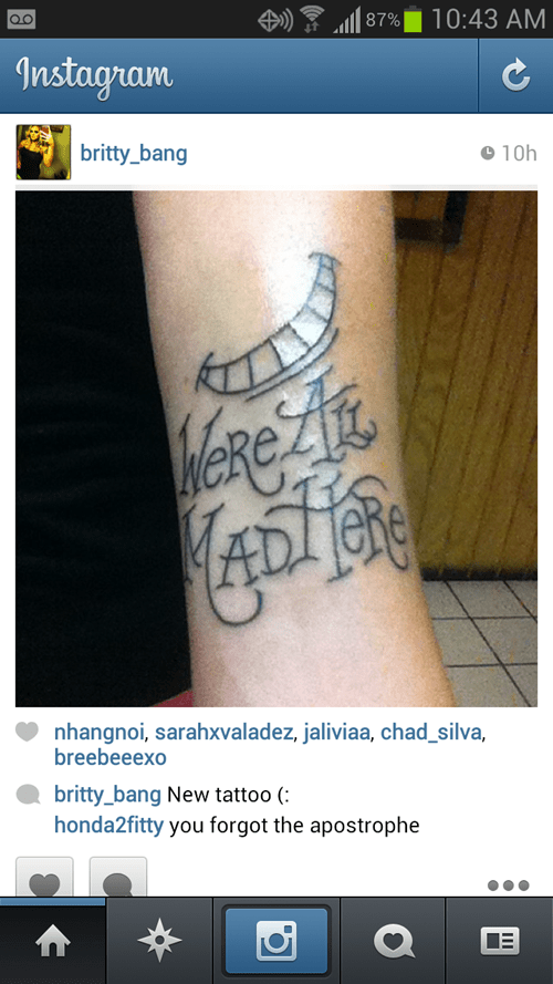 tattoos,misspelling,funny