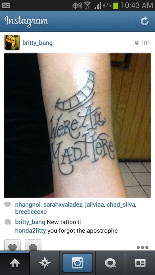 tattoos misspelling funny - 7677188608
