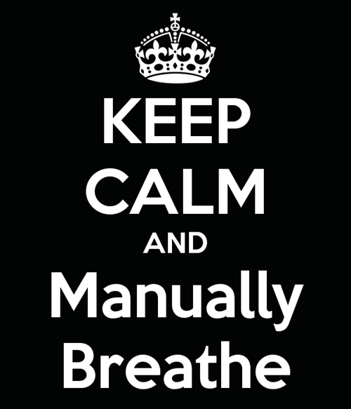breathing manually,keep calm