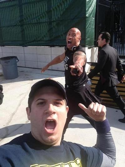 photobomb the rock funny - 7677421056
