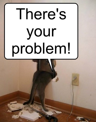 theres-your-problem hole funny - 7677454336