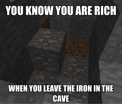 iron minecraft rich