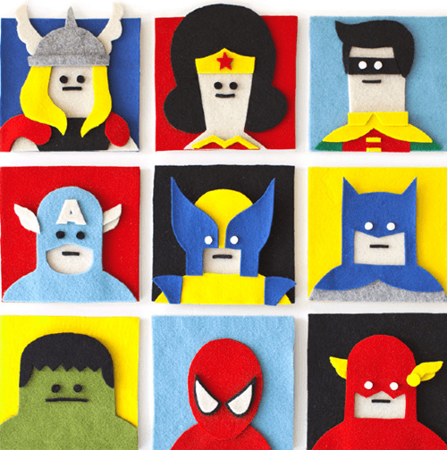felt cute superheroes DIY - 7677643008