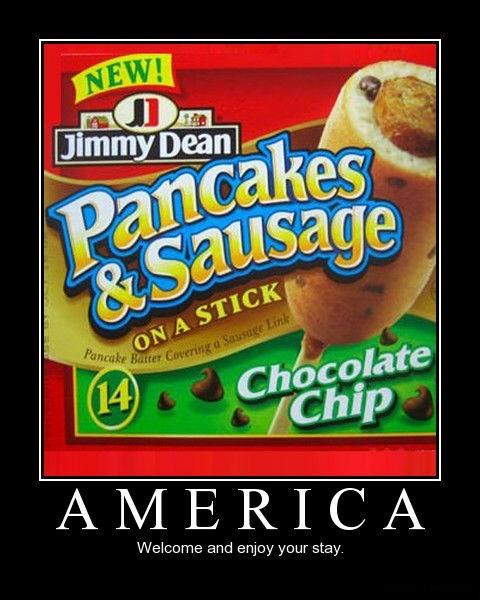 breakfast america pancakes funny - 7677694720