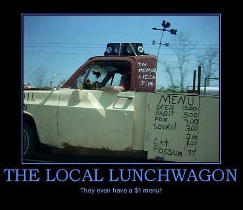 menu lunchwagon rednecks funny