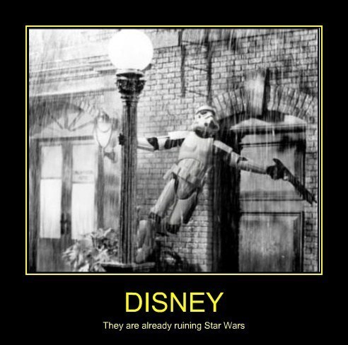 disney star wars musicals stormtrooper singin in the rain