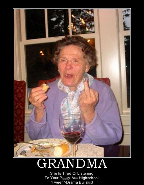 middle finger grandma wine angry funny - 7677798400