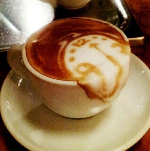 design dali funny latte coffee art g rated win - 7677882624