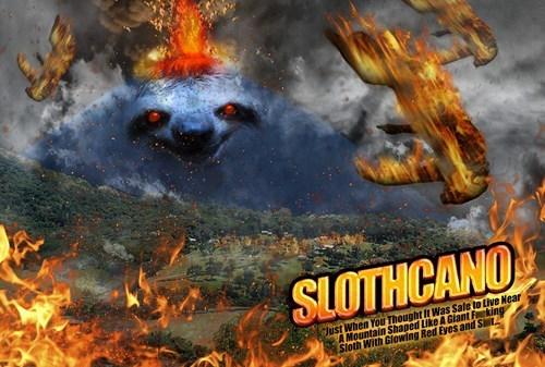 sharknado slothcano sloths volcano - 7678022912