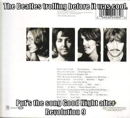 beatles,good night,juxtaposition