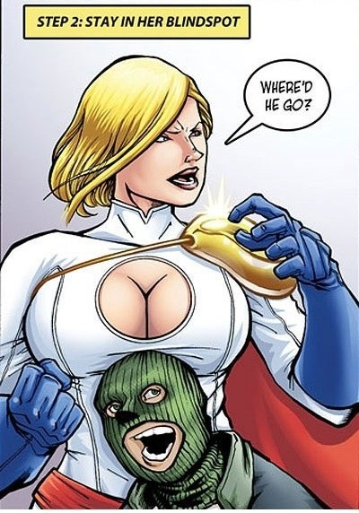 How to hide from Power Girl ...
