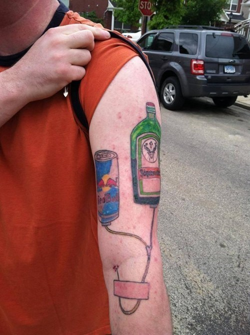 drinking tattoos jag bomb idiots funny g rated Ugliest Tattoos - 7679458560