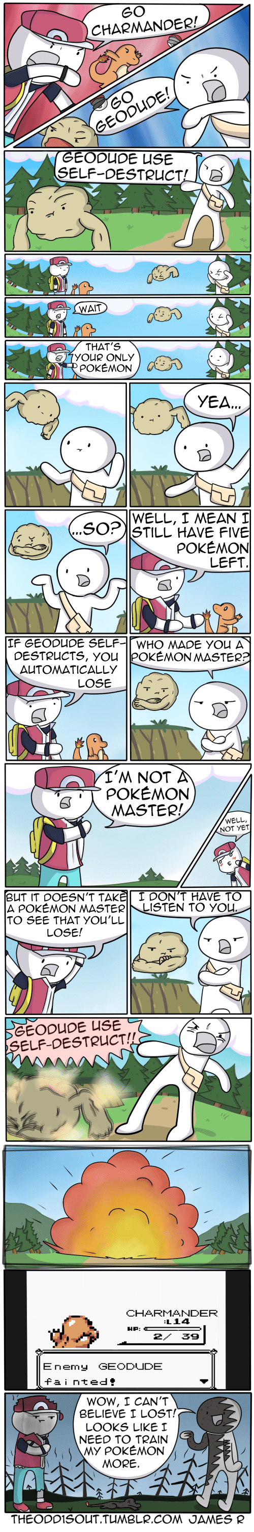 Pokémon red comics selfdestruct web comics