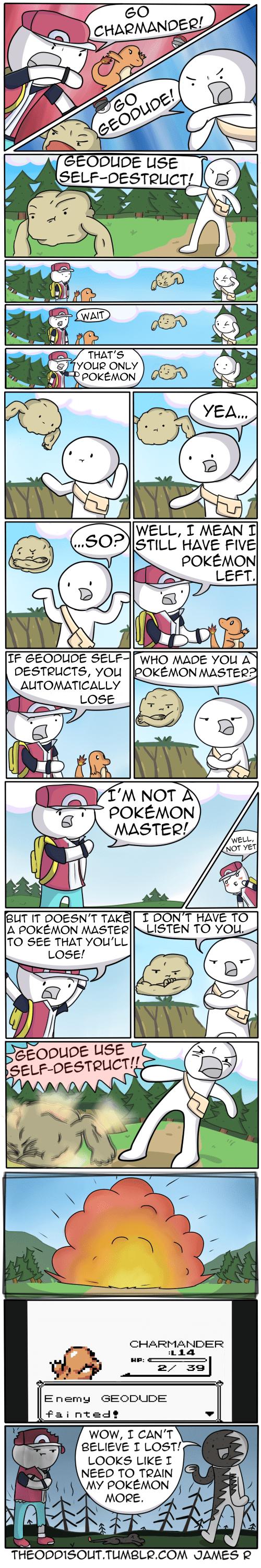 Pokémon red comics selfdestruct web comics - 7679709184