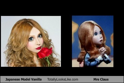 models,totally looks like,vanilla,Japan,mrs claus,funny