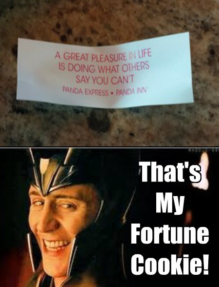 loki fortune cookie funny - 7679906560
