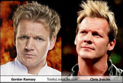 gordon ramsay,chris jericho,totally looks like,funny
