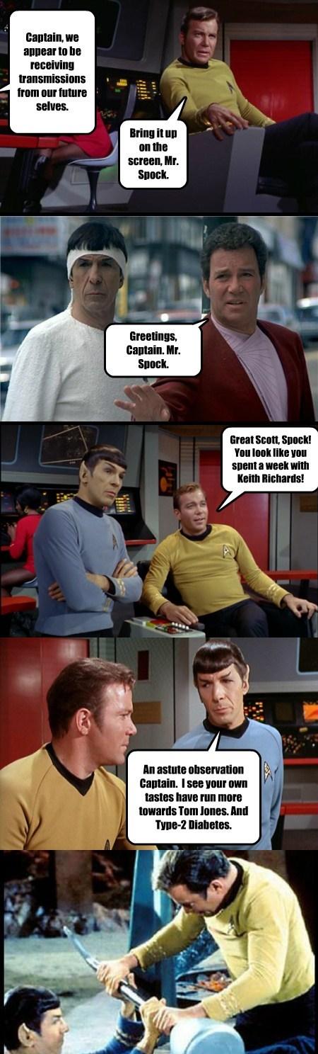 Captain Kirk Spock Star Trek funny - 7681197056