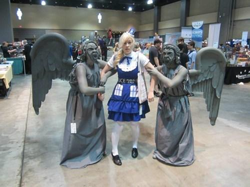 cosplay weeping angels tardis - 7681365504