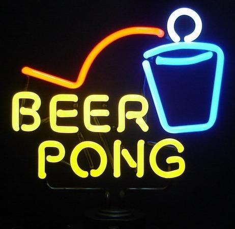sign neon beer pong funny - 7681909760