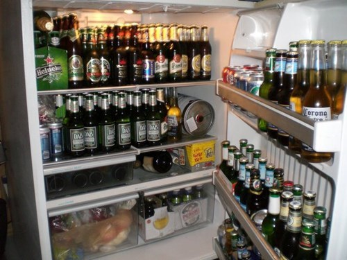 beer cheating food fridge - 7681936384