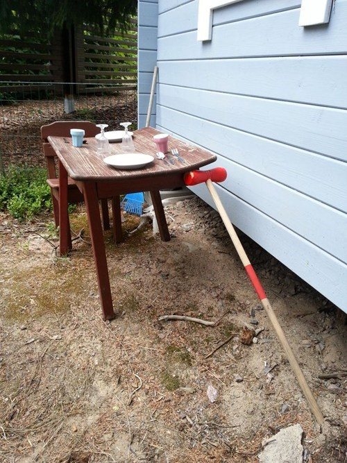 lazy dads kids croquet mallet tables funny - 7682812928