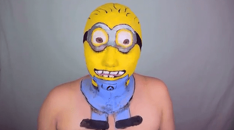 makeup face despicable me minion