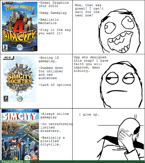 SimCity facepalm video games