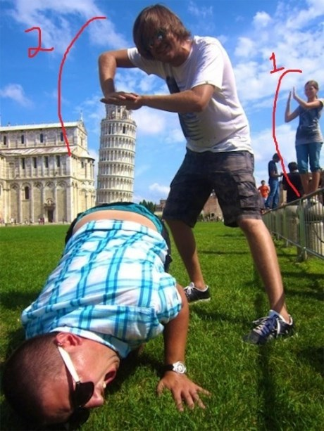 photography leaning tower of pisa perspective funny fail nation